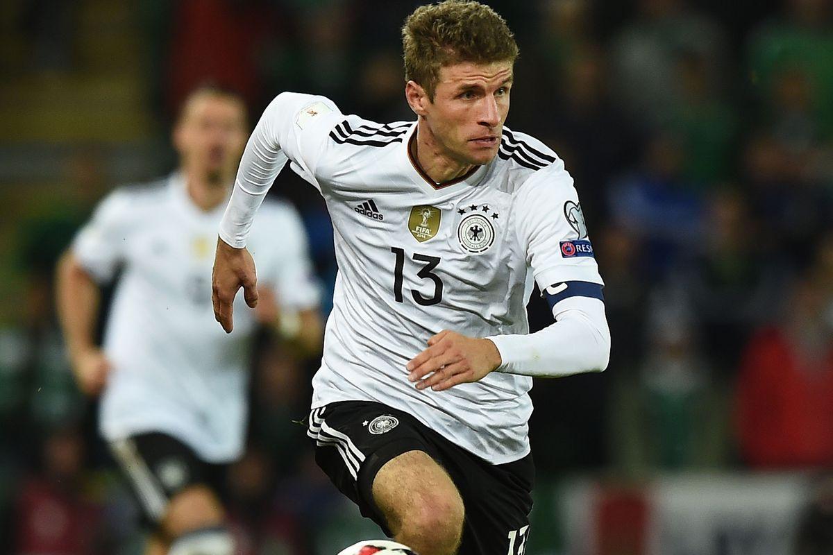 مولر مهاجم بايرن ميونخ ومنتخب ألمانيا