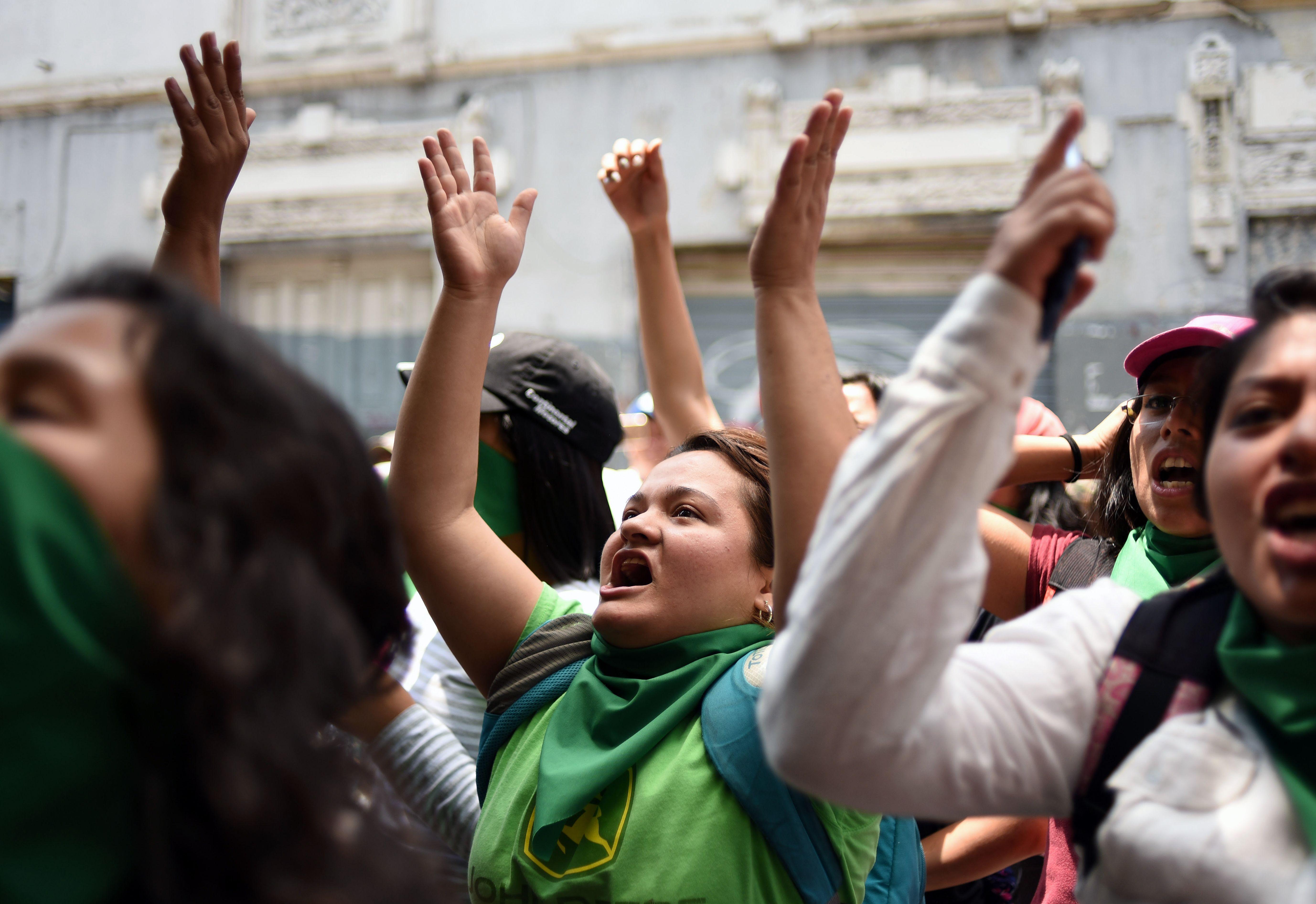 جانب من المظاهرات فى جواتيمالا