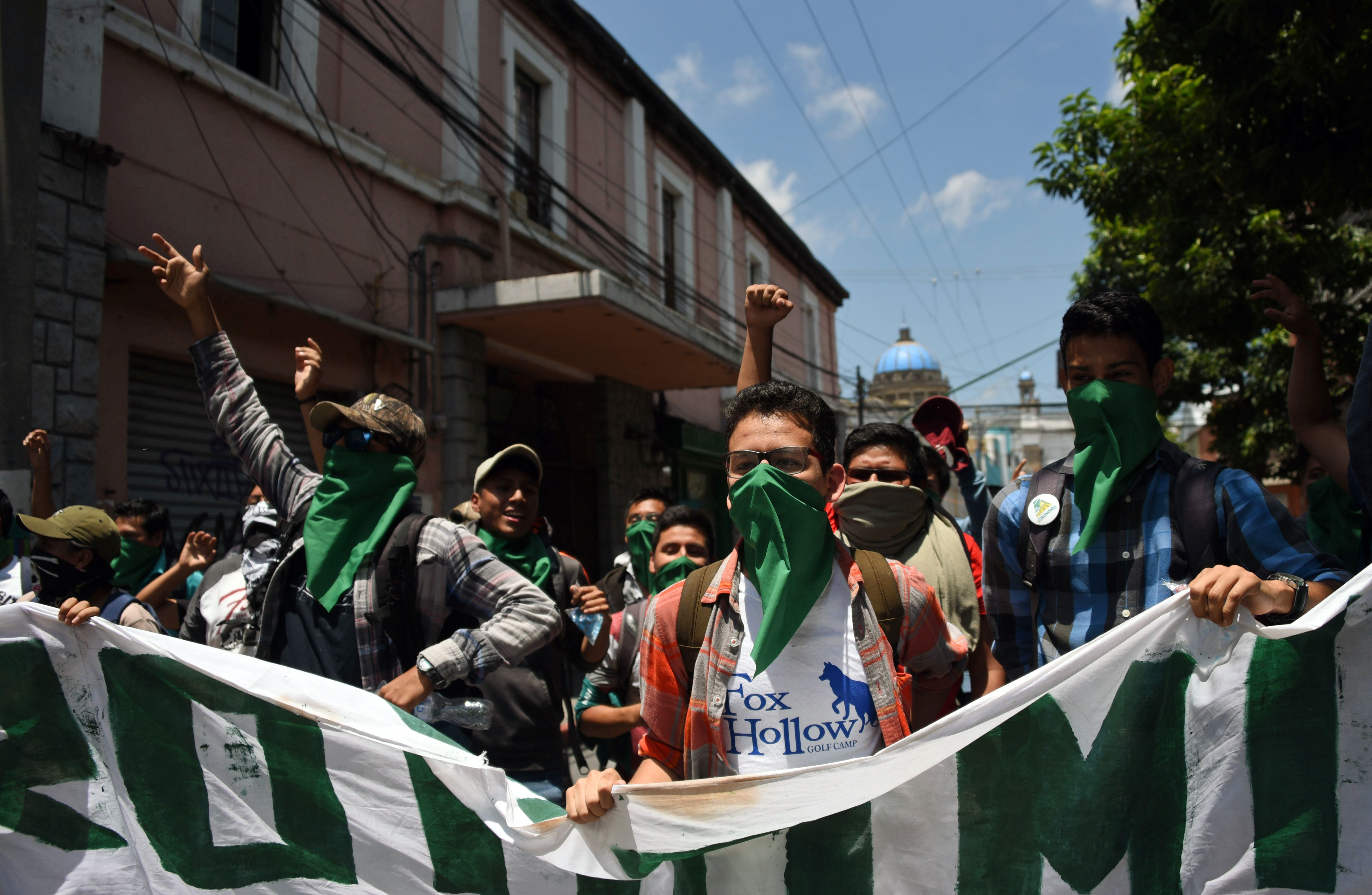 مظاهرات جواتيمالا