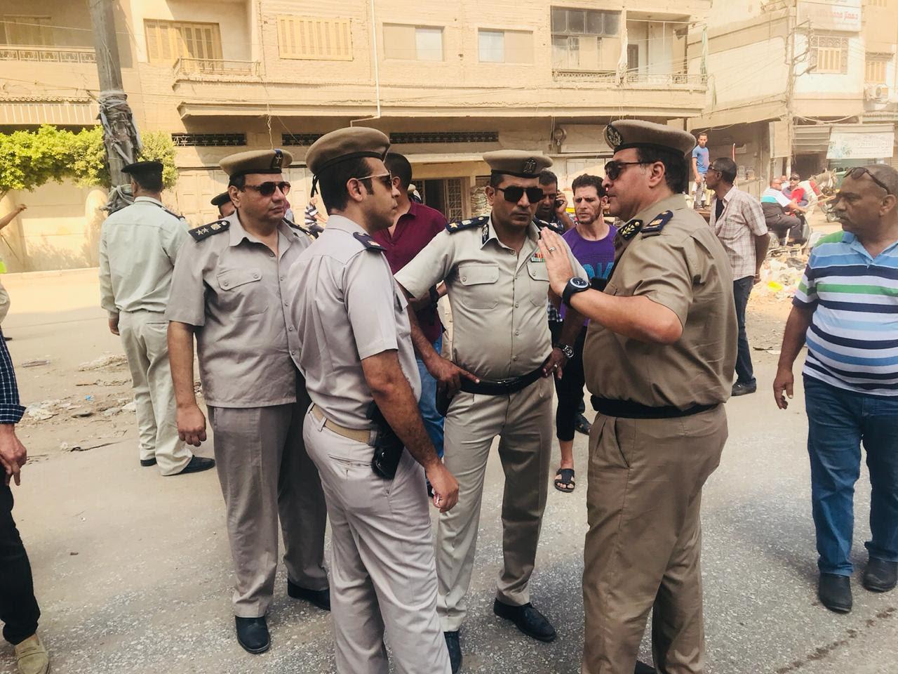 قيادات من جهاز الشرطة خلال الحملة