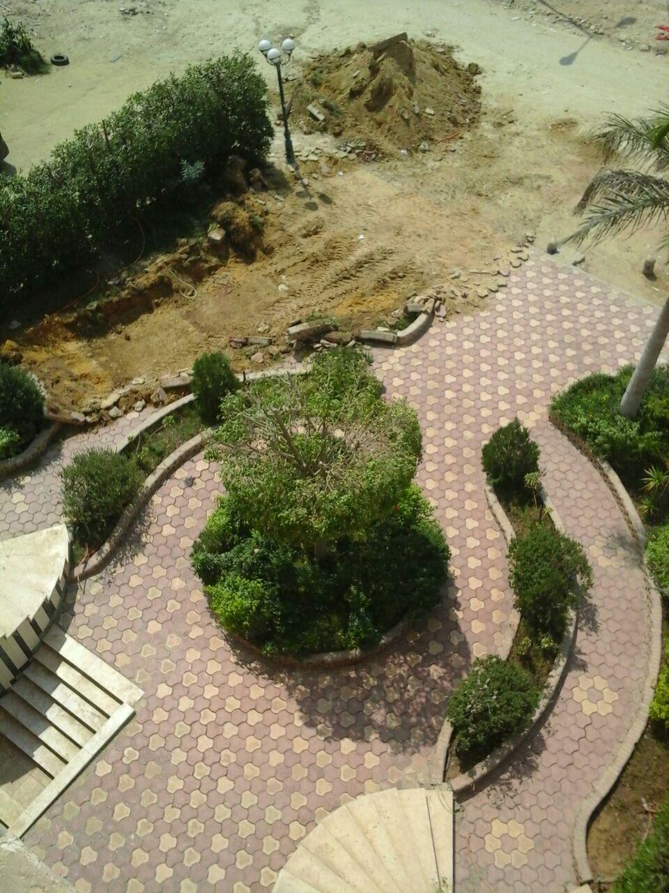 إزالة حديقة عقار عنوة ضد رغبة الملاك فى المقطم  (5)