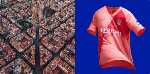 قميص برشلونة الثالث يشبه حى إيكزامبل