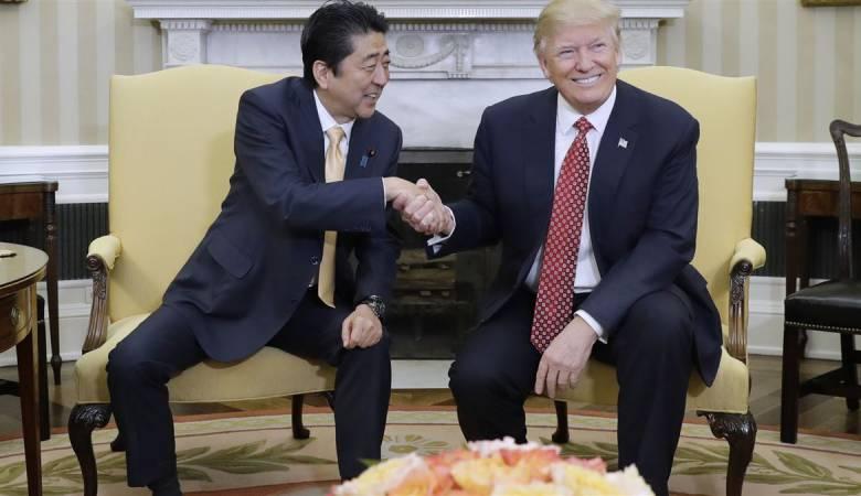 ترامب ورئيس وزراء اليابان