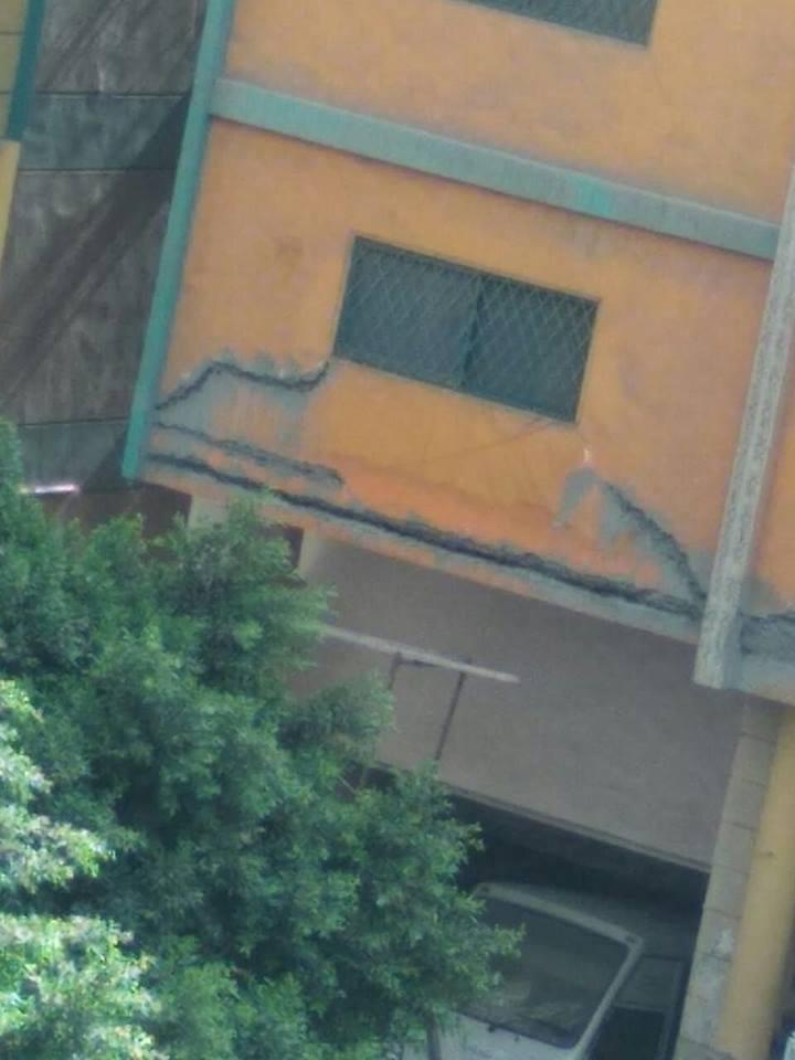 وجود تشققات بمبنى مدرسة خاصة فى الهرم (2)