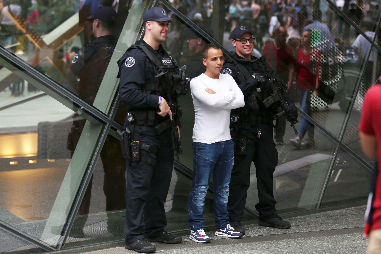 الشرطة الأمريكية خلال إحياء الذكرى