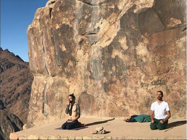 أحمد مجدى على أحد الجبال