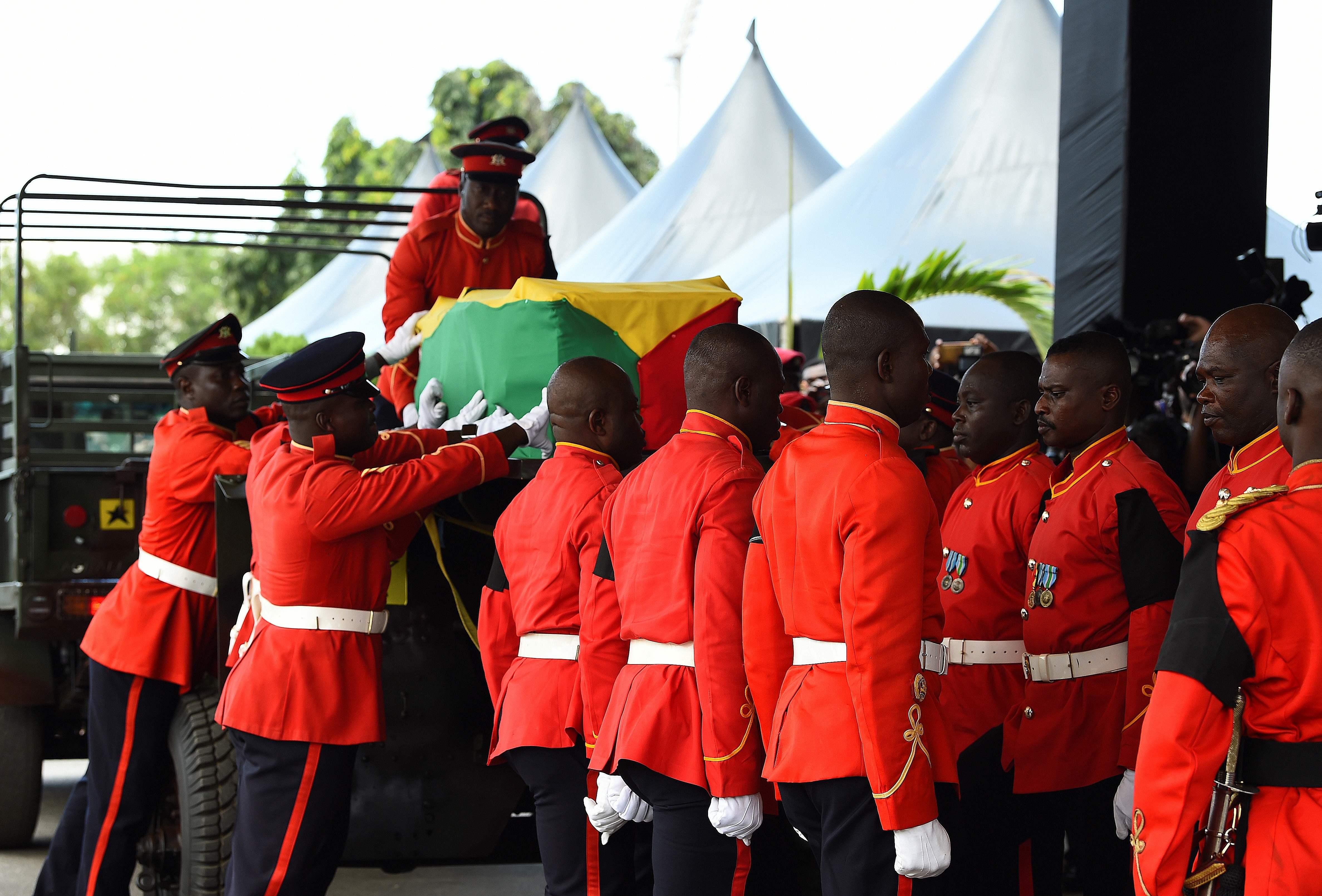 مراسم رسمية لتشيع جثمان كوفى عنان