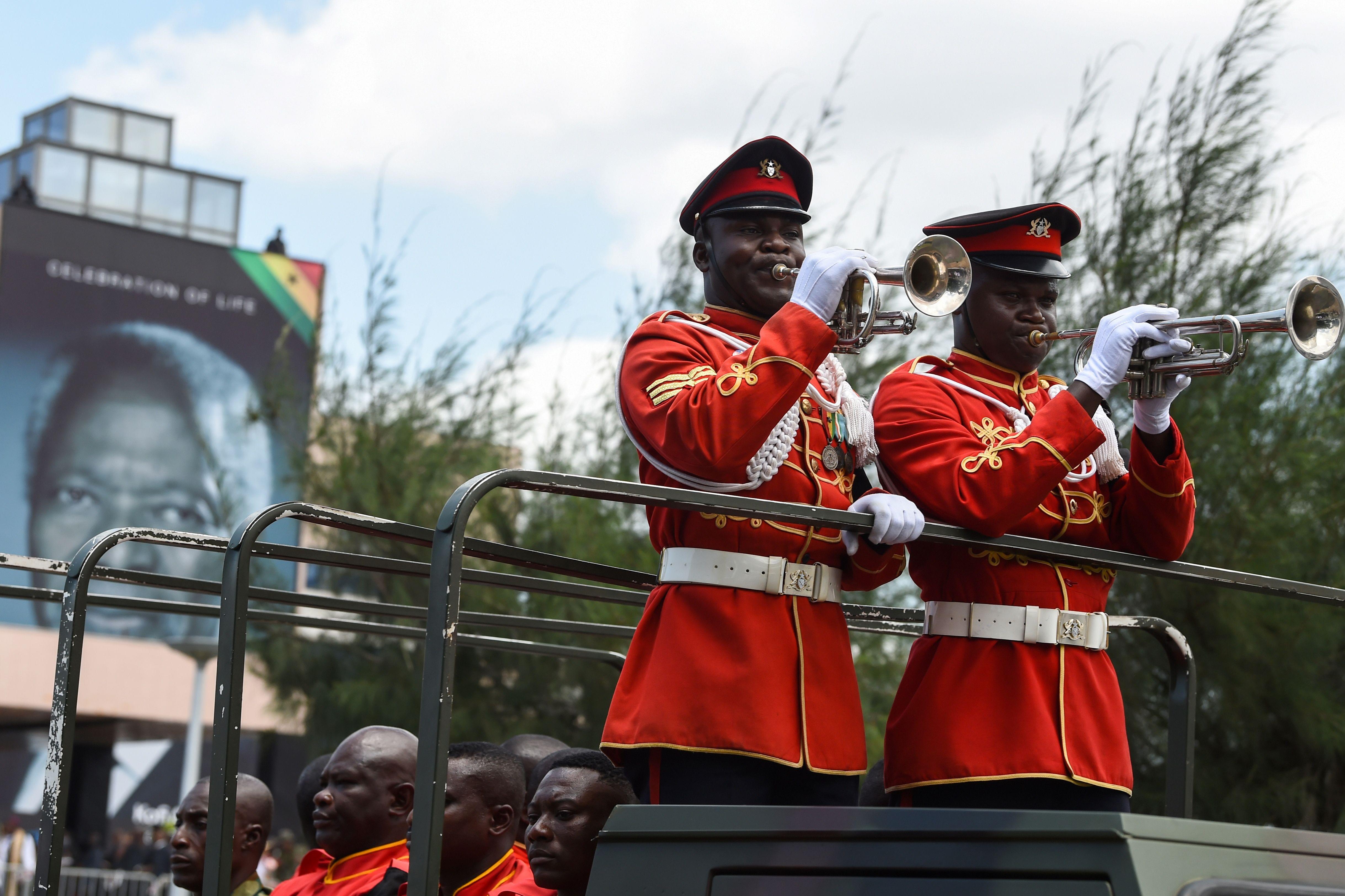 جنازة عسكرية لكوفى عنان