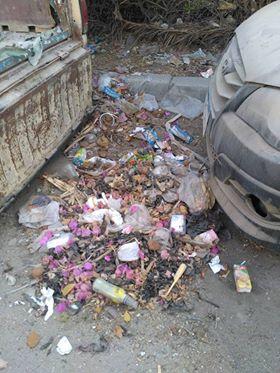 انتشار القمامة بشارع عمرو بن العاص فى السلام  (1)