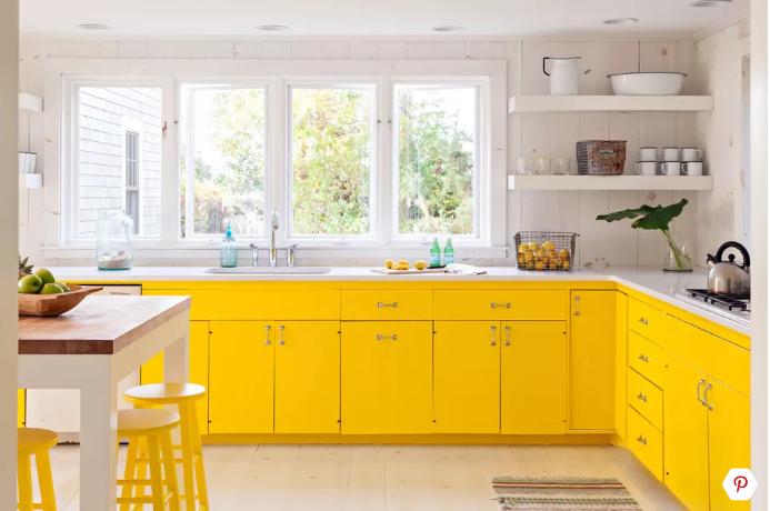 الأصفر فى المطبخ