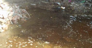 انتشار مياه الصرف بشوارع فرسيس فى الغربية