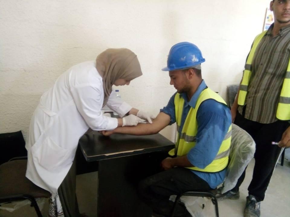 7-كشف طبي على العاملين