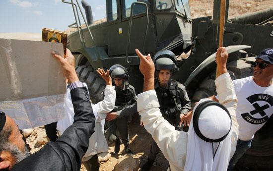 جانب من احتجاجات الفلسطينيين