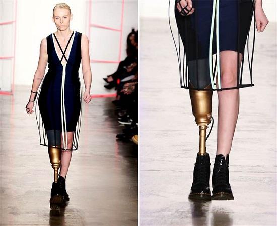 لورين واسر تشارك فى عروض وحملات الأزياء بساق واحدة (3)