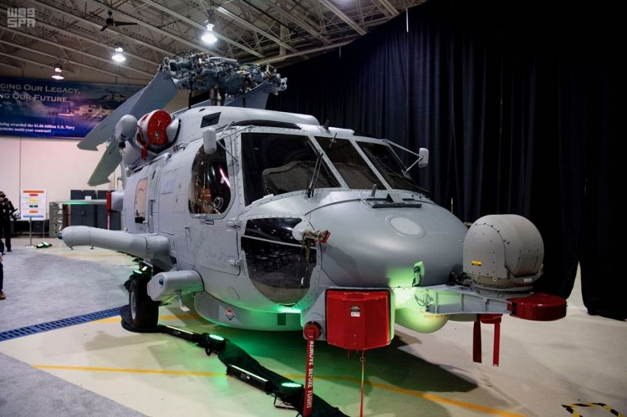 """السعودية تدشن طائرة هليكوبتر طراز """"MH-60R"""""""