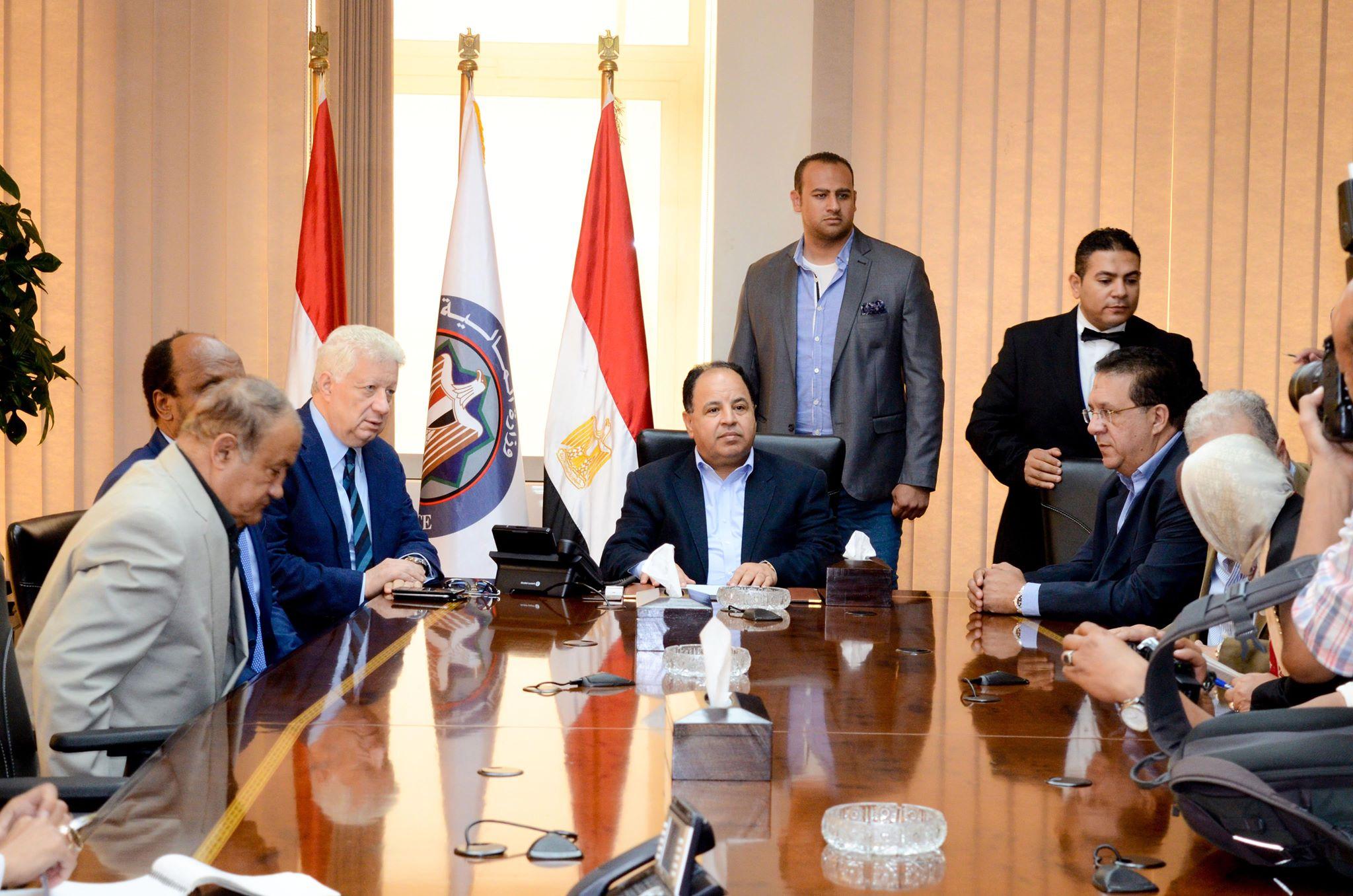 جلسة مجلس الزمالك مع وزير المالية (3)