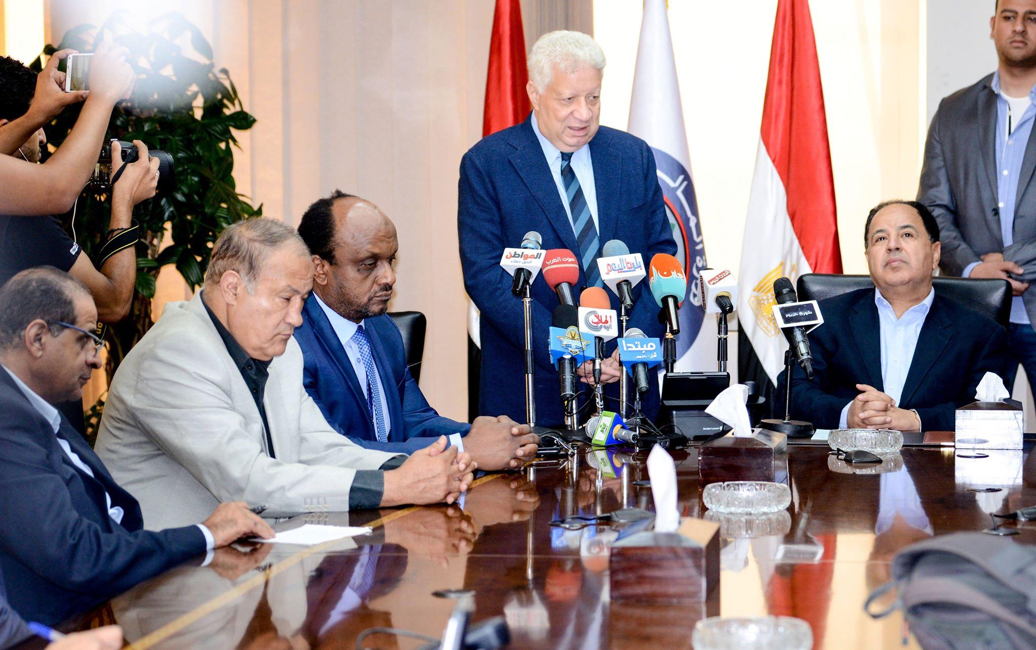 جلسة مجلس الزمالك مع وزير المالية (2)