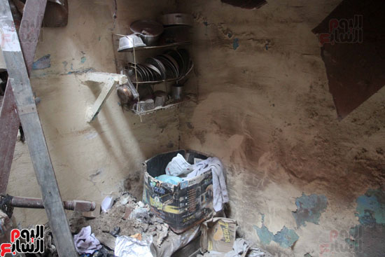 انهار عقار بمنطقة حكر السكاكينى الجديد بالشرابية (6)