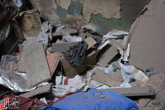 انهار عقار بمنطقة حكر السكاكينى الجديد بالشرابية (9)
