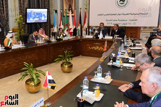 الندوة البرلمانية العربية للاتحاد البرلماني العربي المنعقدة بمجلس النواب (22)