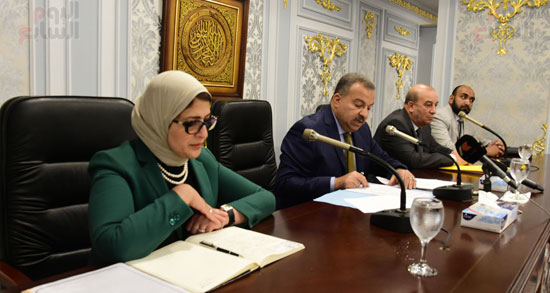 هالة زايد وزيرة الصحة (4)