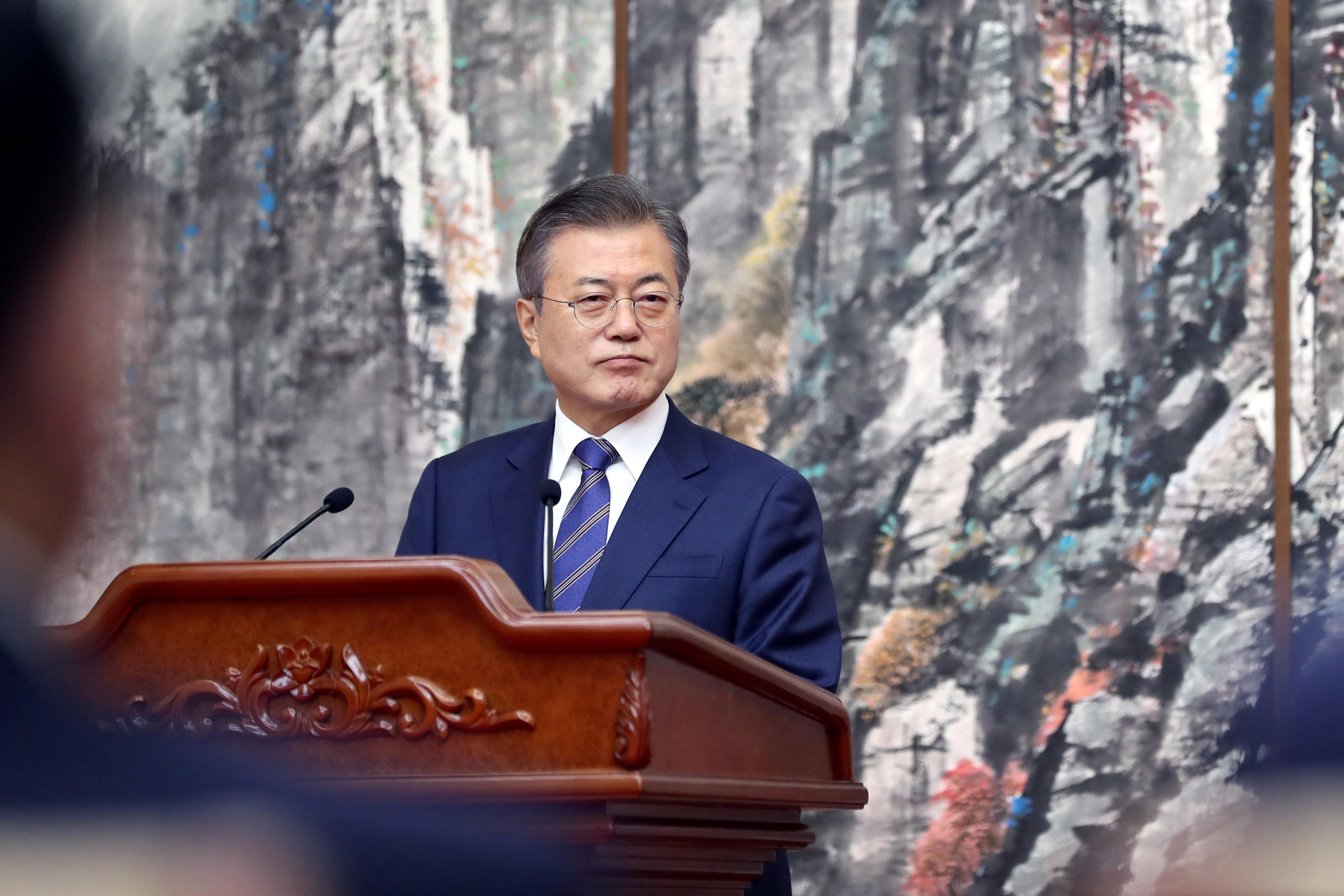 رئيس كوريا الجنوبية مون جاى إن