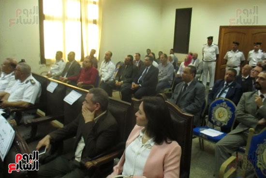 جانب من حضور افتتاح اعمال التطوير التقنى بمحاكم مطروح