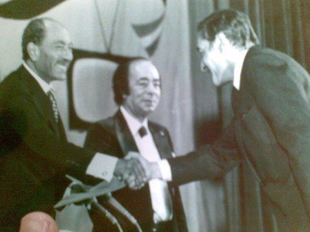 مع الرئيس الراحل أنور السادات