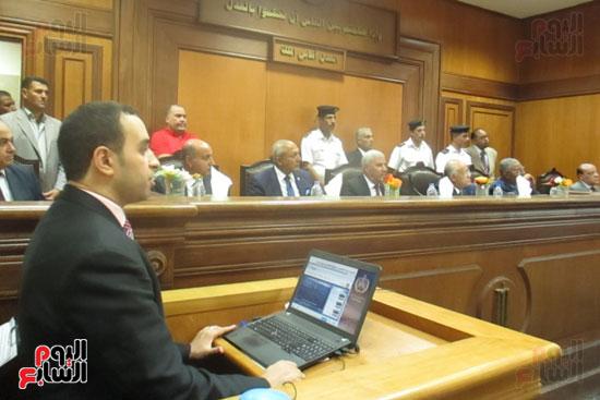 جلسة عرض منظومة التطوير التقنى لمحاكم مطروح