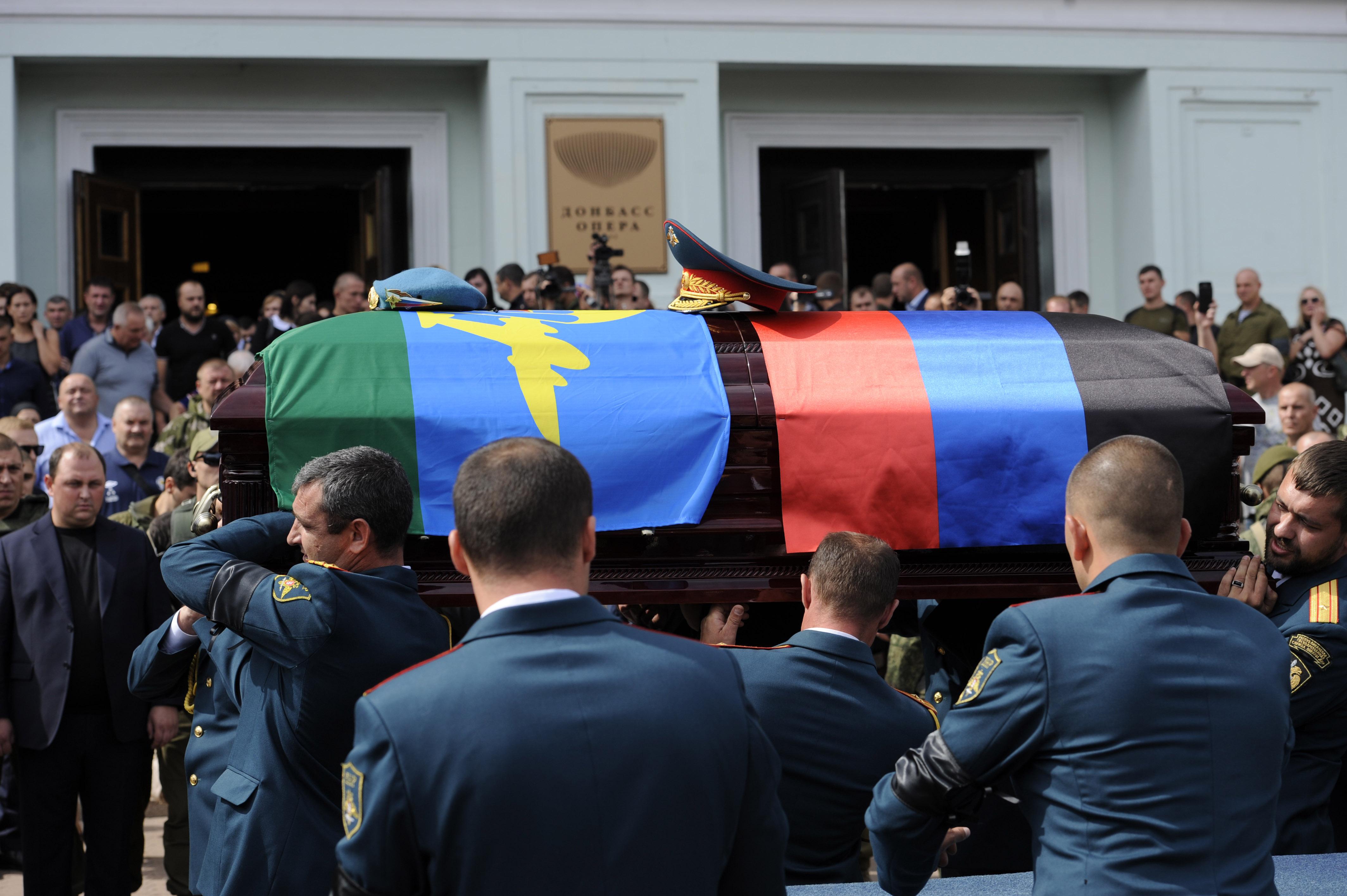 تشييع جثمان قائد جمهورية دونيتسك
