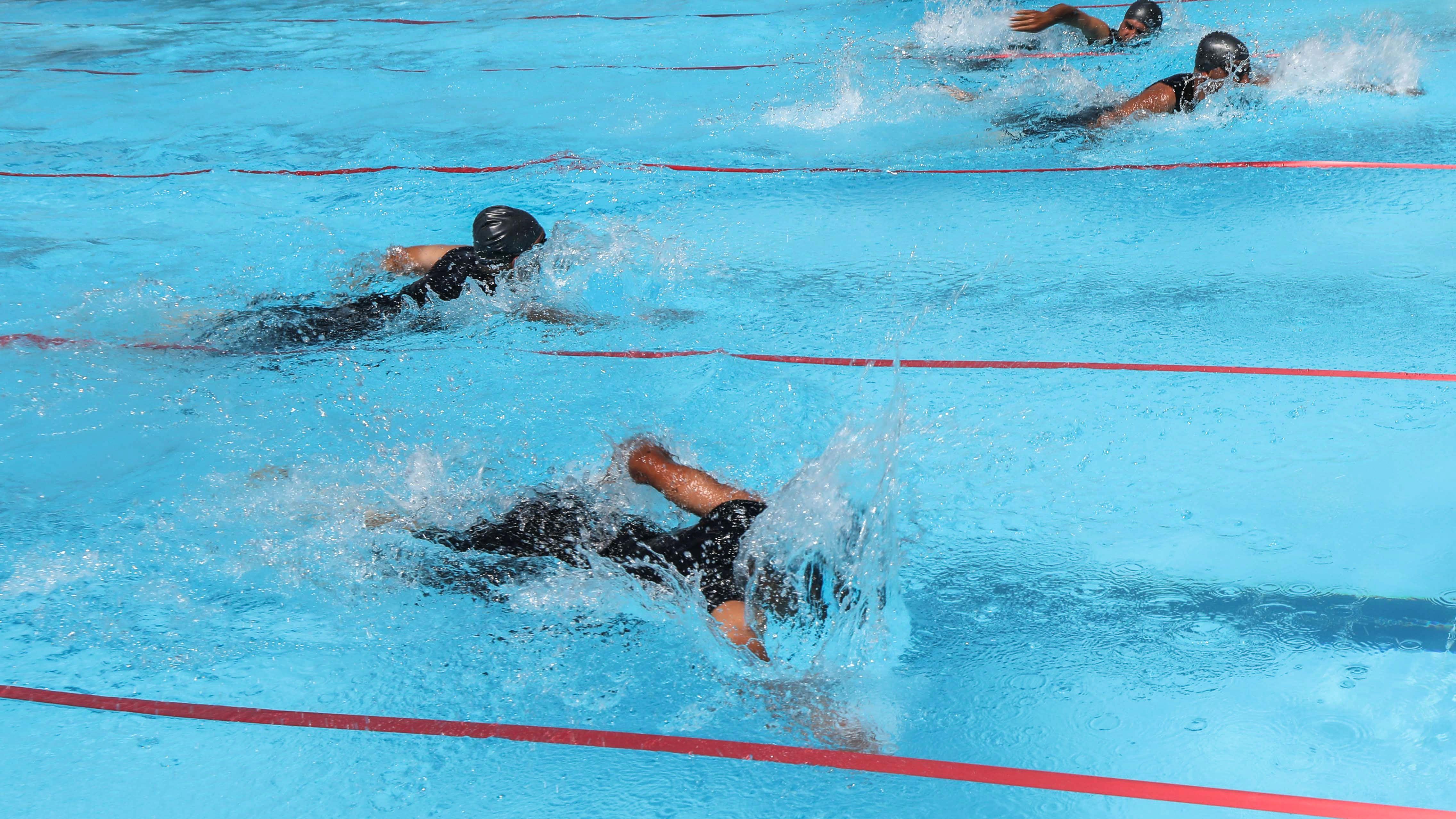 جانب من السباحة