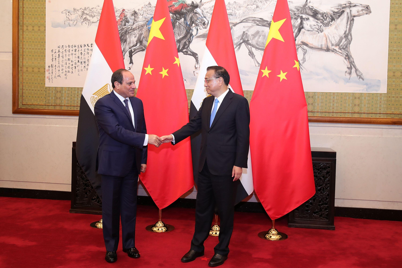 الرئيس السيسى ورئيس مجلس الدولة الصينى