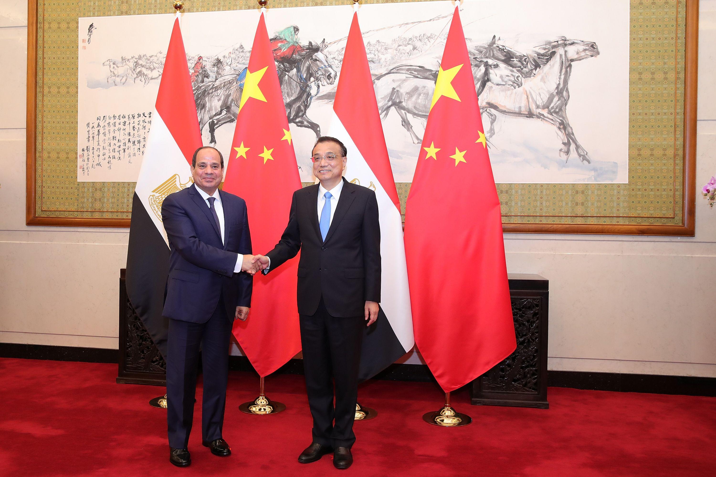 الرئيس السيسى يلتقى رئيس مجلس الدولة الصينى