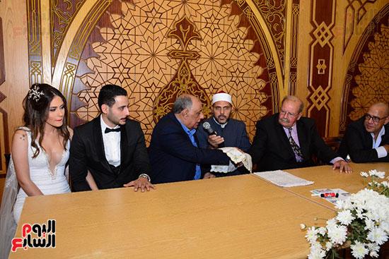 صور عقد قران حامد الشراب نجم مسرح مصر (41)