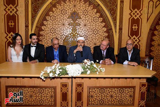 صور عقد قران حامد الشراب نجم مسرح مصر (36)