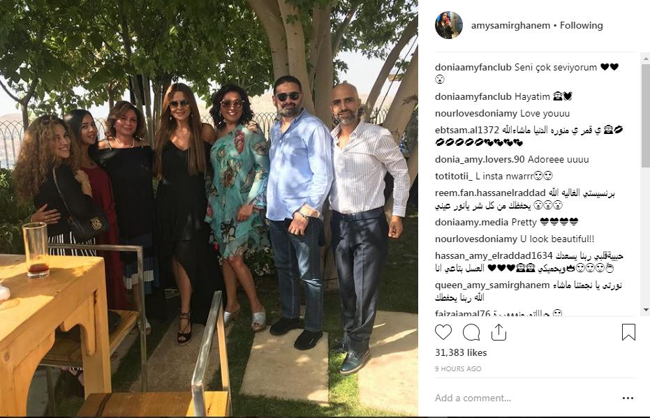 إيمى سمير غانم وشيرى عادل وعدد من الفنانين