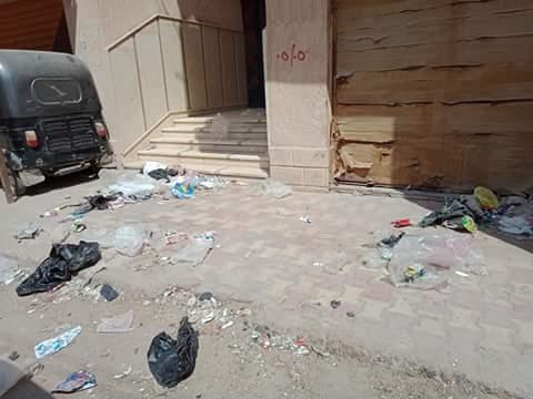 القمامة بشوارع مدينة الدلنجات  (3)