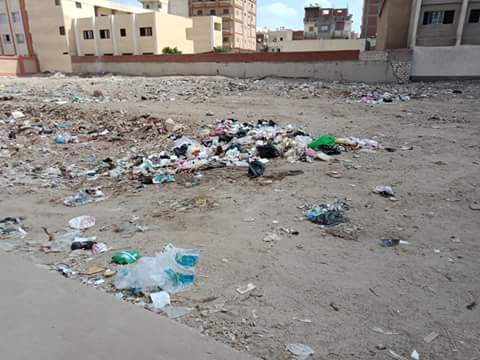القمامة بشوارع مدينة الدلنجات  (1)