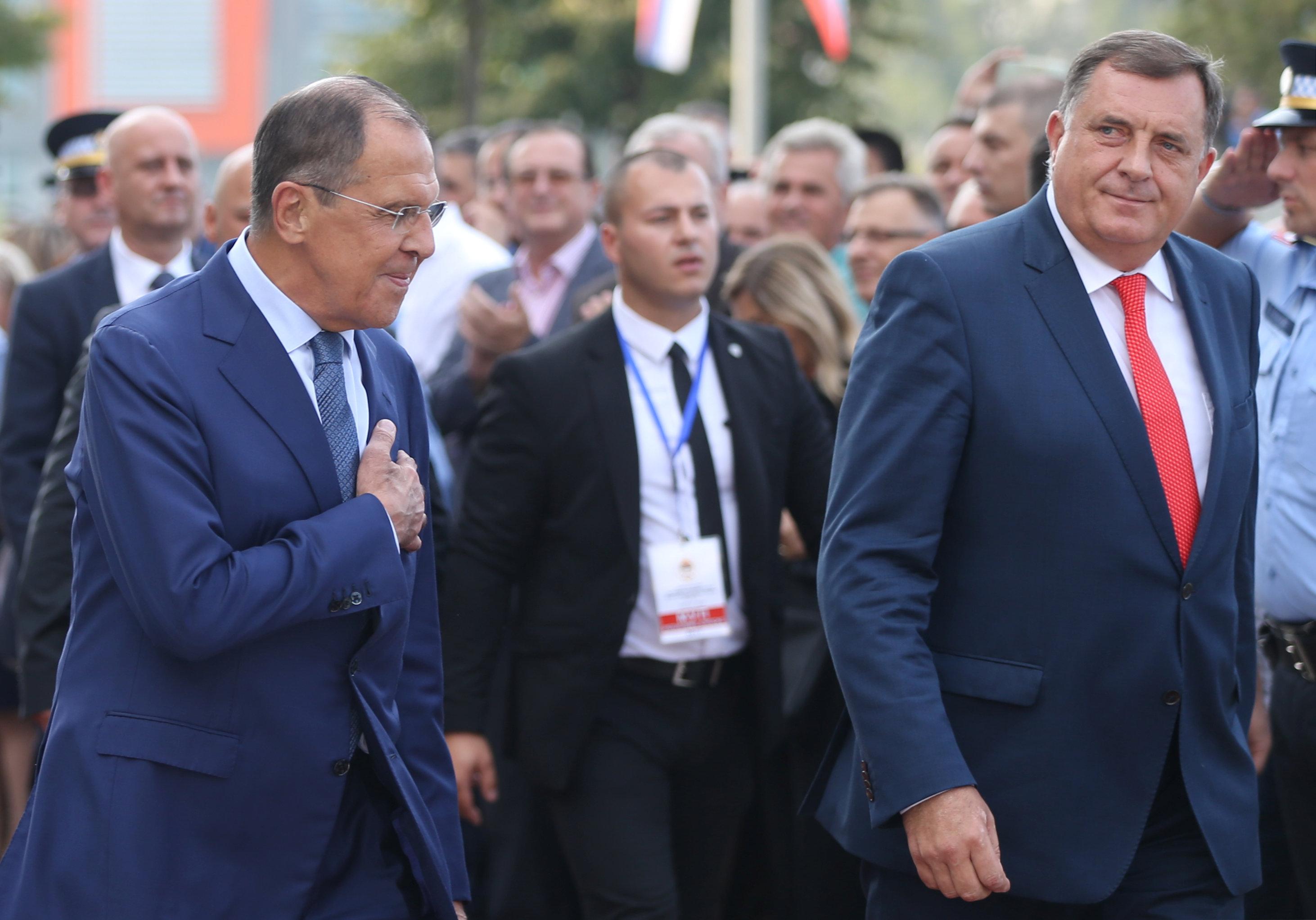 رئيس جمهورية البوسنة يستقبل وزير الخارجية الروسي سيرجي لافروف فى بانيالوكا