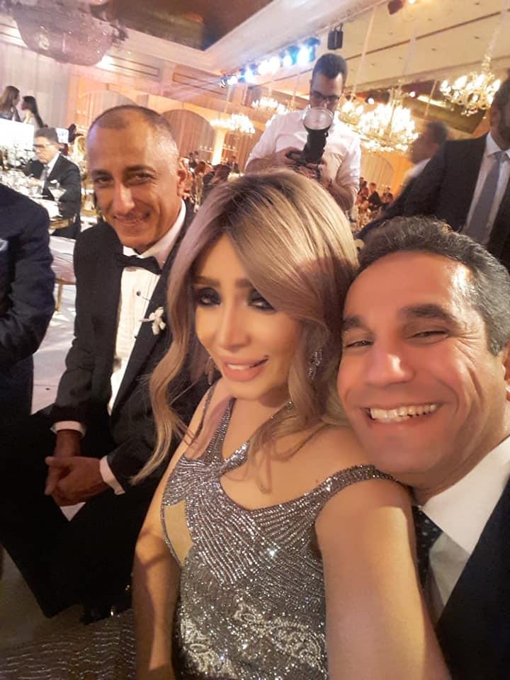 العميد محمد سمير وإيمان أبو طالب مع طارق عامر
