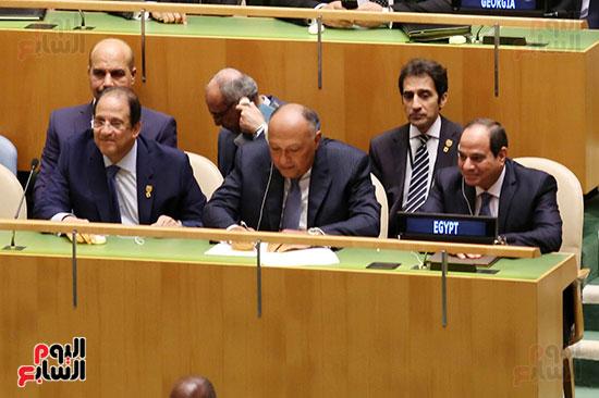 الرئيس عبد الفتاح السيسى لحضور قمه نيسلون مانديلا  (5)