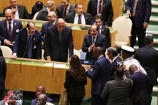 الرئيس عبد الفتاح السيسى لحضور قمه نيسلون مانديلا  (2)