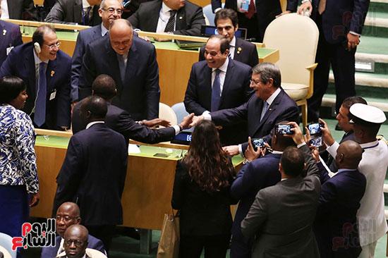 الرئيس عبد الفتاح السيسى لحضور قمه نيسلون مانديلا  (3)