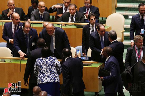 الرئيس عبد الفتاح السيسى لحضور قمه نيسلون مانديلا  (9)
