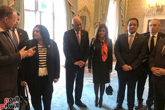 وفد البرلمان المصرى برئاسة عبد العال يلتقى رئيس جمهورية أيرلندا (4)