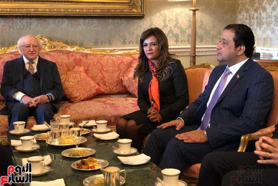 وفد البرلمان المصرى برئاسة عبد العال يلتقى رئيس جمهورية أيرلندا (2)