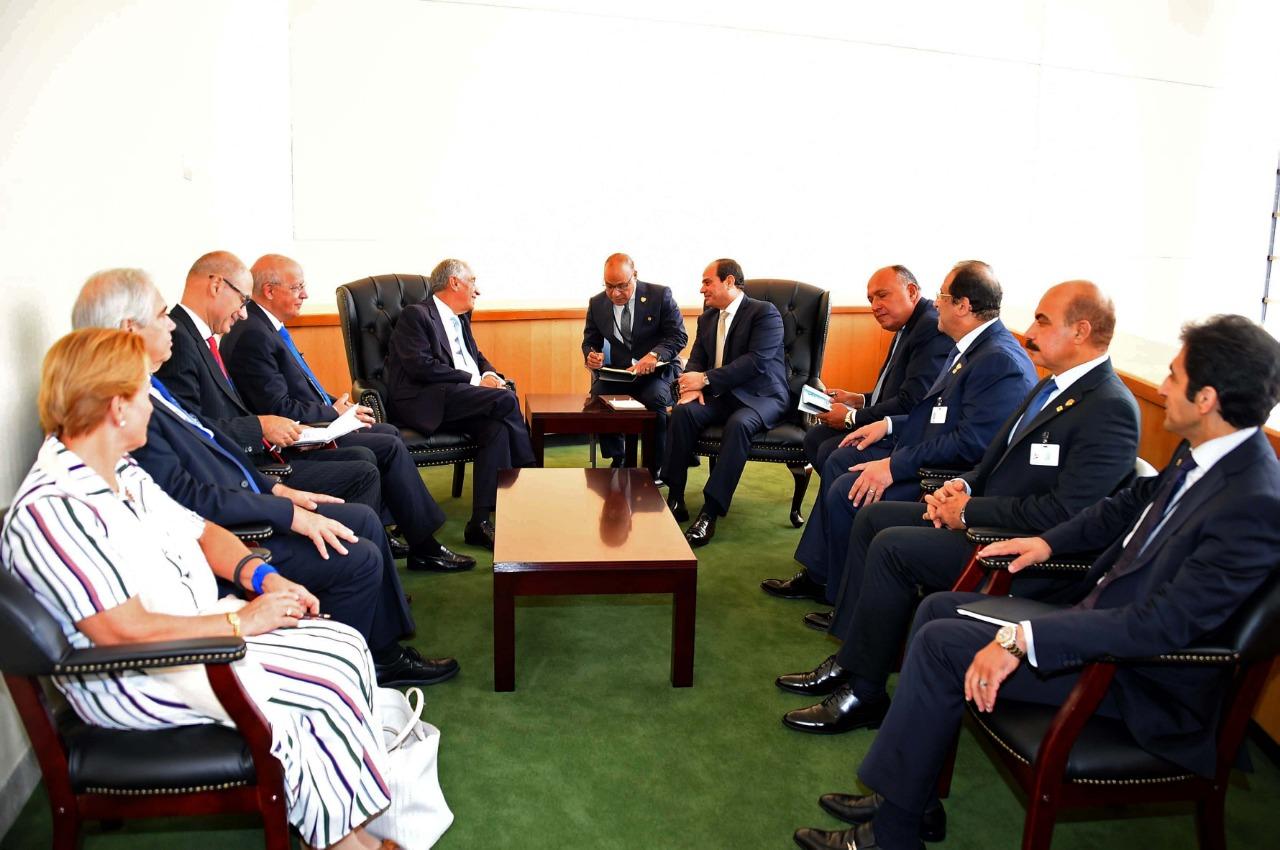 الرئيس السيسي والرئيس البرتغالي