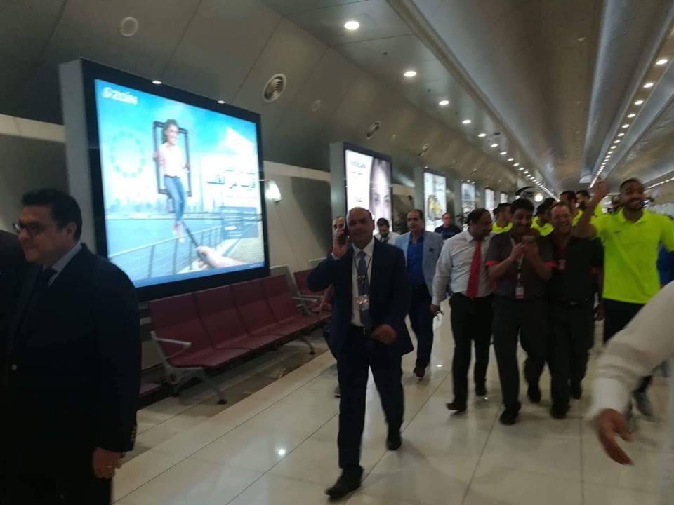 استقبال بعثة الزمالك فى الكويت (5)