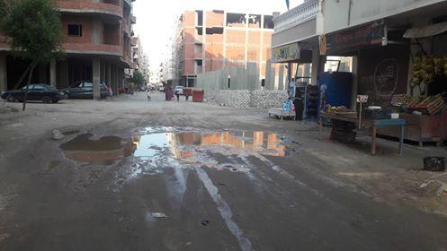 غرق  عمارات فى شارع بالبحر الاحمر فى مياه الصرف الصحى   (3)
