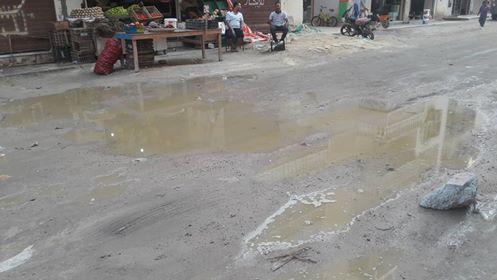 غرق  عمارات فى شارع بالبحر الاحمر فى مياه الصرف الصحى   (2)
